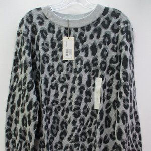 A New Day Leopard Pullover Large #F1-163
